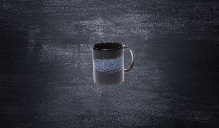 DMEC porcelain mug with trace of a tire black