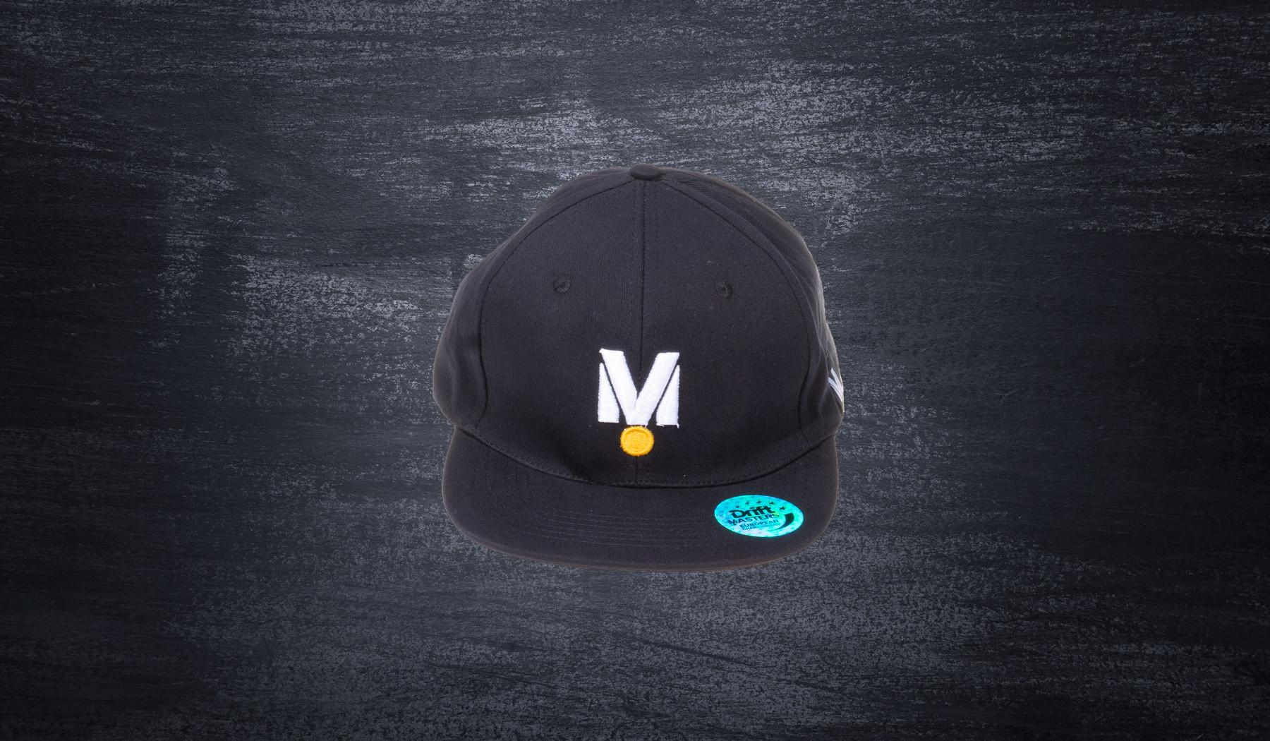 """M"" flat peak black"
