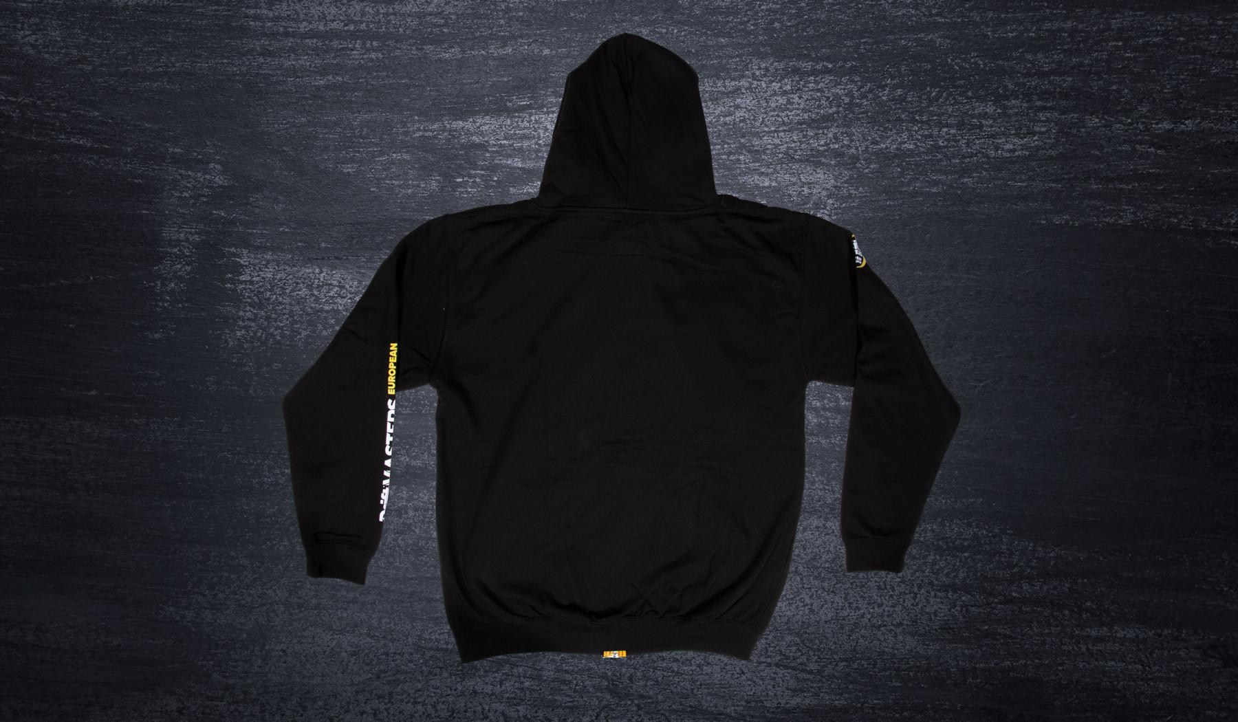 DMEC zip hoodie black/yellow