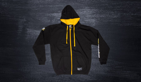 Bluza rozpinana DMEC z kapturem czarno/żółta