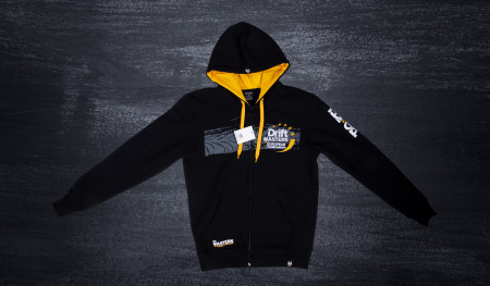 DMEC zip hoodie black/yellow tire motif