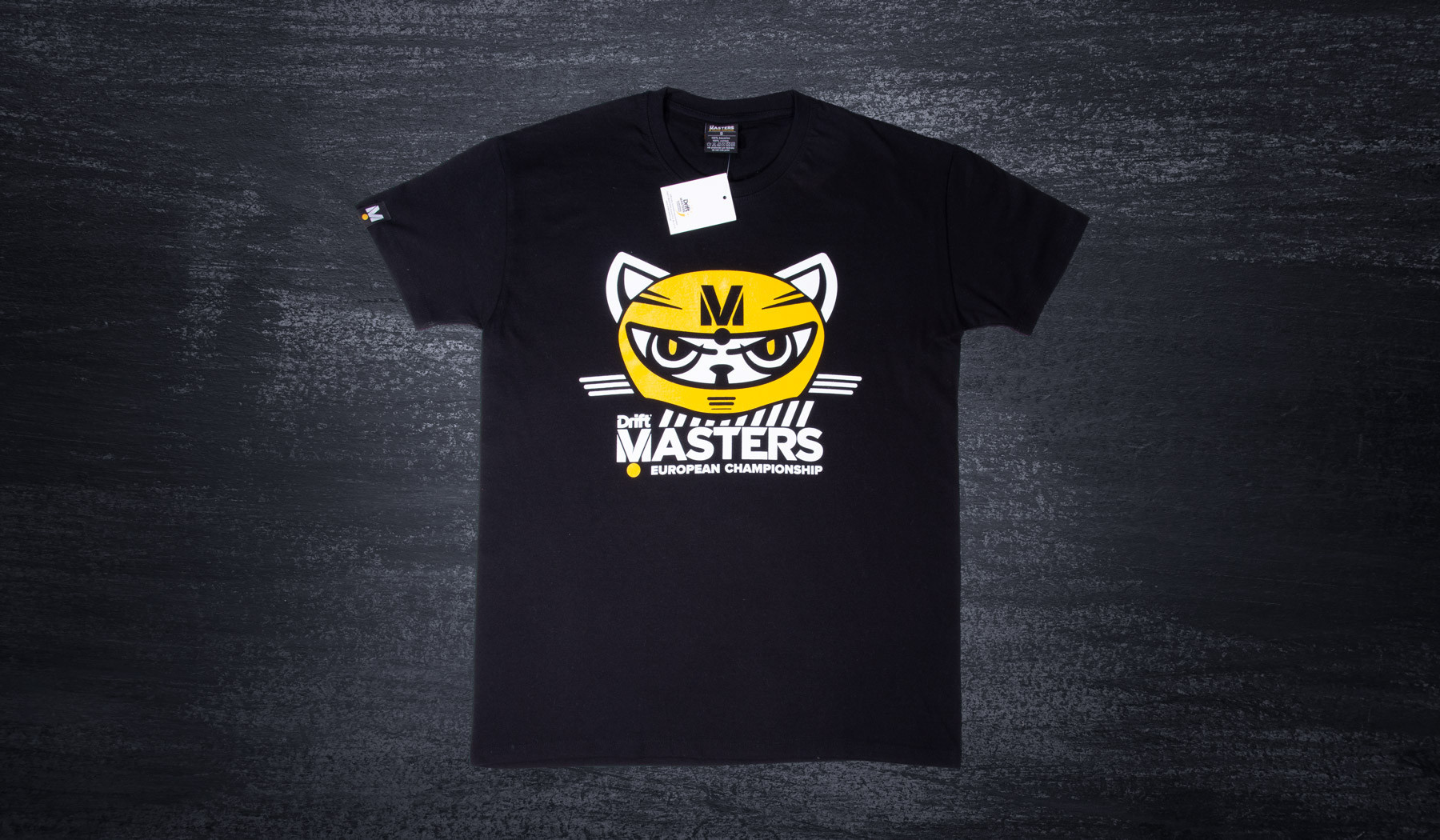 Drift Masters cat T-shirt black