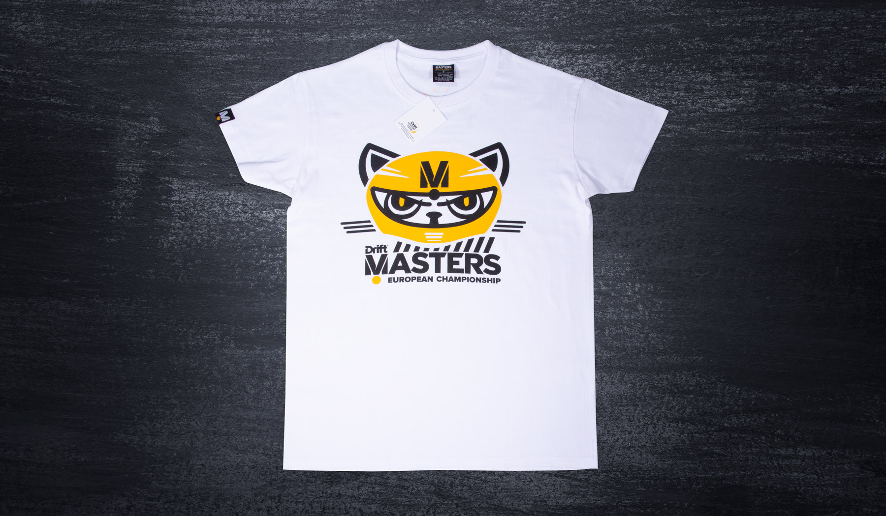 Drift Masters cat T-shirt white