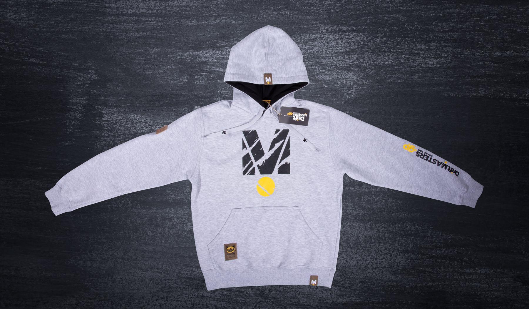 BigM hoodie gray/yellow