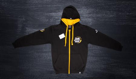 Bluza z kapturem rozpinana DMEC Budmat czarno/żółta