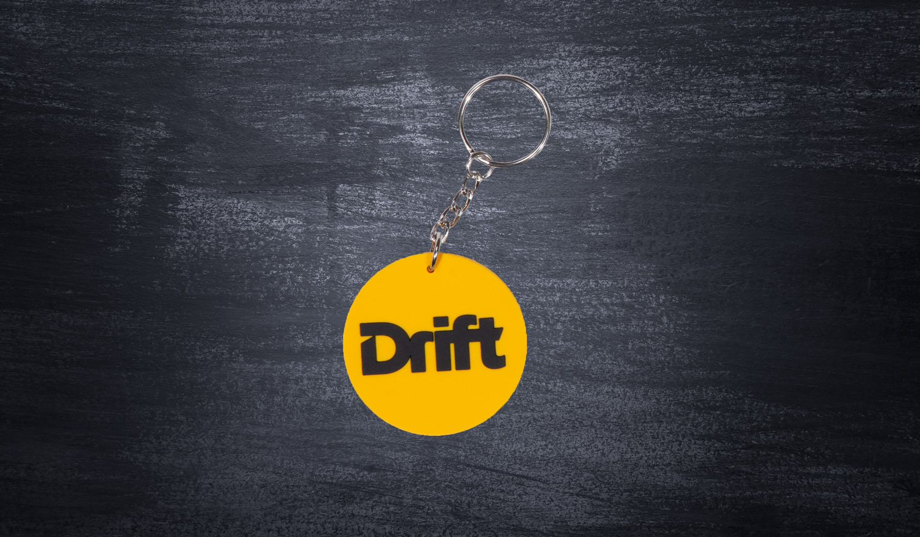 DMEC Circle Keyring yellow