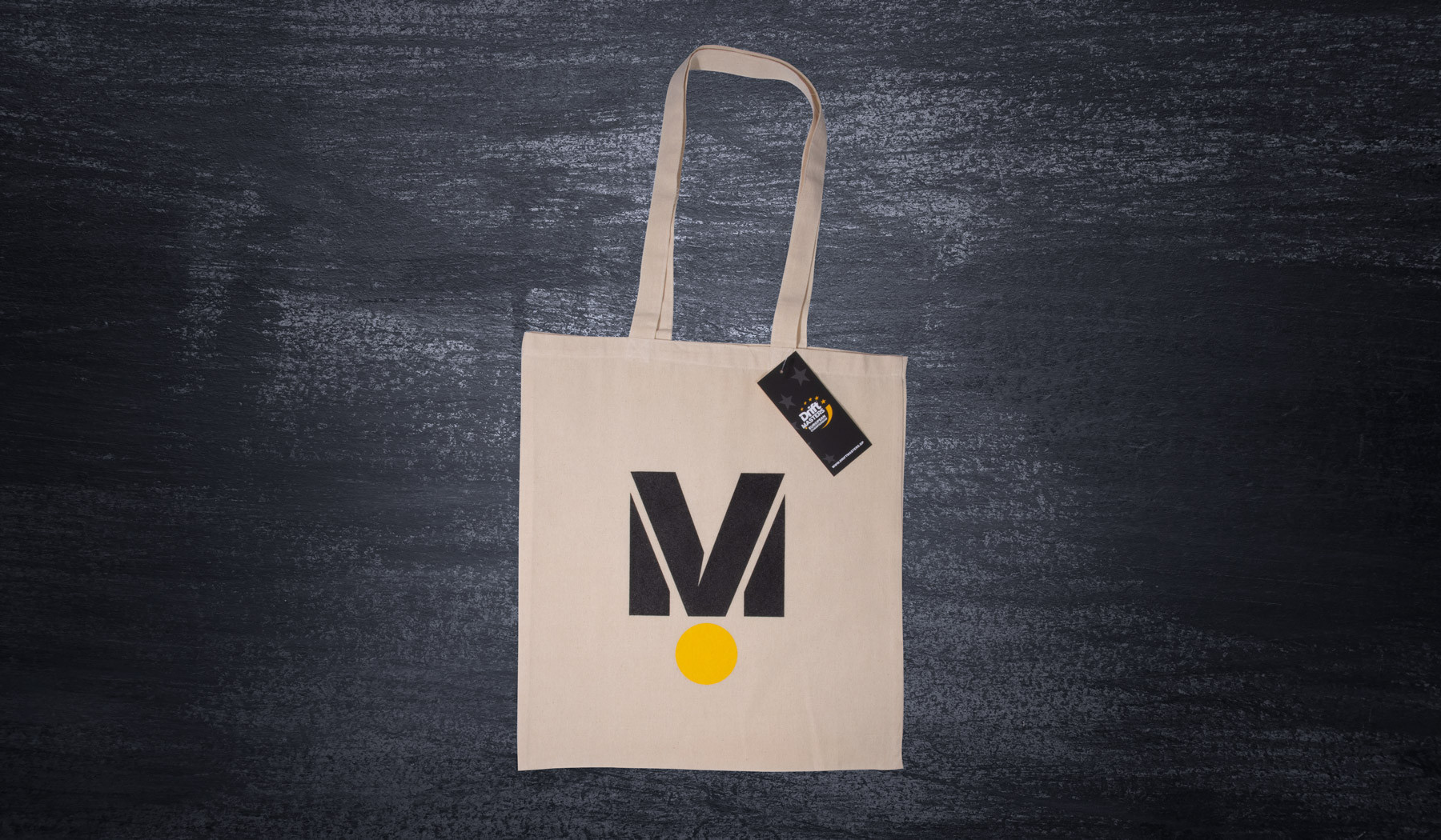 """BigM"" cotton bag white"