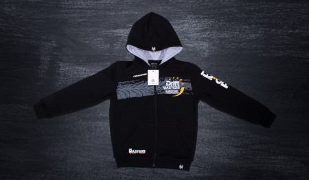 DMEC hooded sweatshirt black/grey tire motif